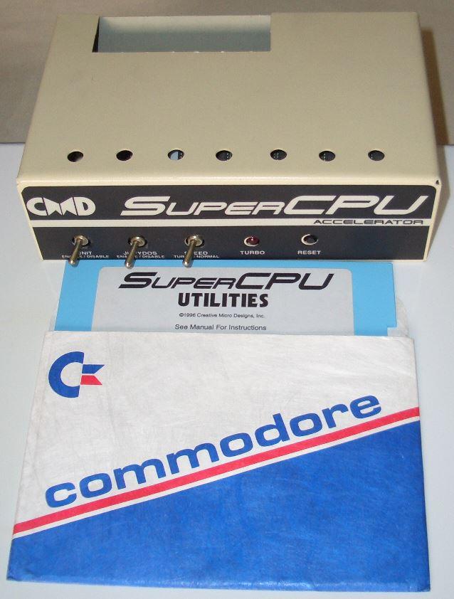 Meine SuperCPU mit der Utility Disc.