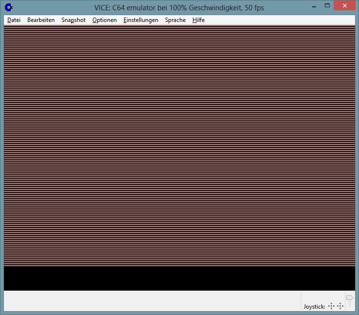 Ohne Bildschirmausgabe sieht alles gut aus.
