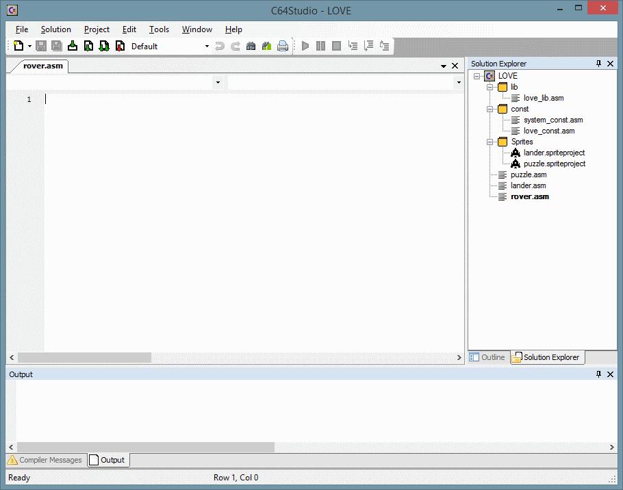 Das konvertierte LOVE-Projekt im C64 Studio 3.4