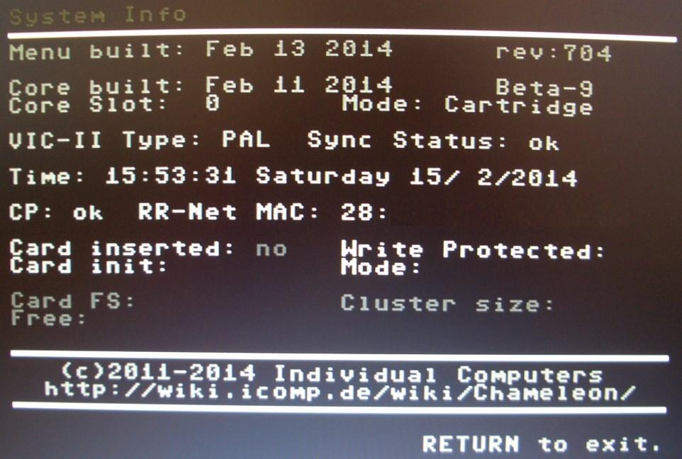 Die 'System-Info' zeigt jetzt auch das RR-Net MK3.