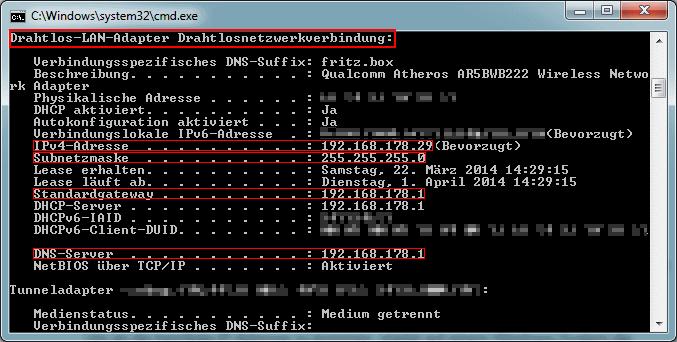 Hier findet ihr die benötigten IP-Adressen.