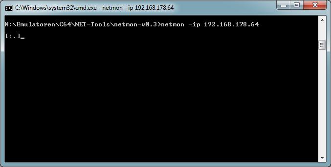 NETMON mit der C64-IP-Adresse starten.