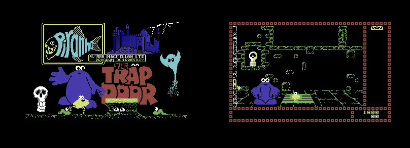 Das Spiel läuft im BITMAP-Modus.