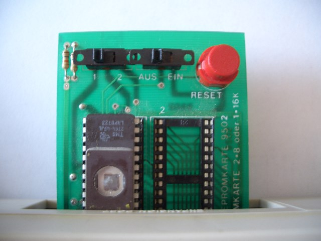 Das EPROM auf einer Modulplatine im C64.