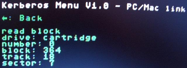 Transfer vom PC zur Kerberos-Cartridge