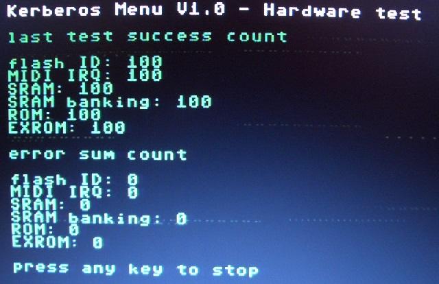 Der Hardware-Test läuf, scheint alles OK zu sein.