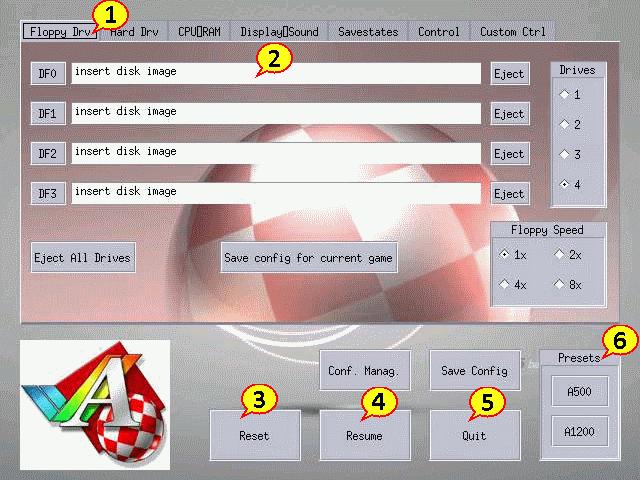 Die Emulator-Oberfläche