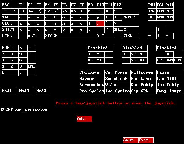 Keymapper der DOSBox