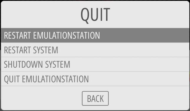 RESTART EMULATIONSTATION