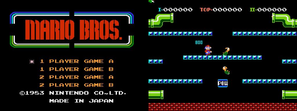 """...und """"Mario Bros."""" läuft"""