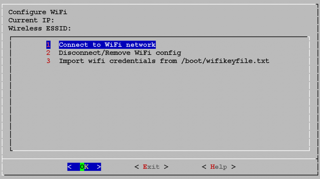 1. Connect to WiFi network