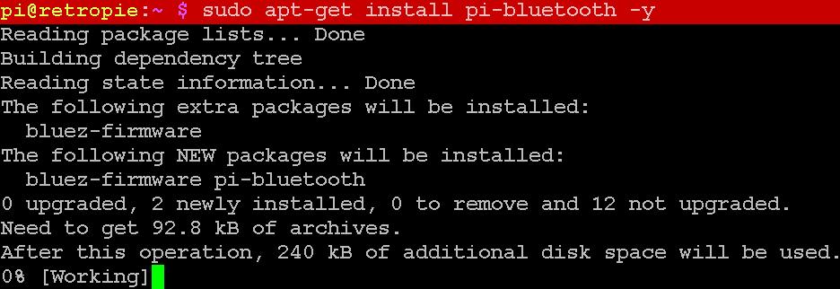 Benötigte Programme für den Pi3 installieren