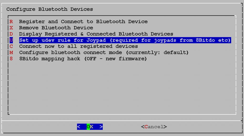 U - Set up udev rule for Joypad (required for joypads from 8Bitdo etc)