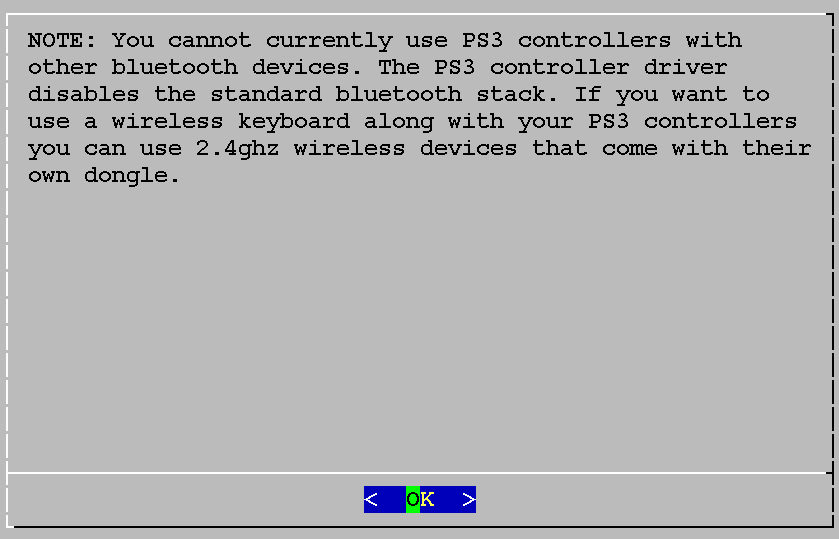 Hinweis, dass man keine anderen BT-Geräte verwenden kann.