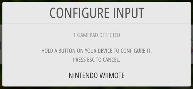 Die WiiMote kann verwendet werden.