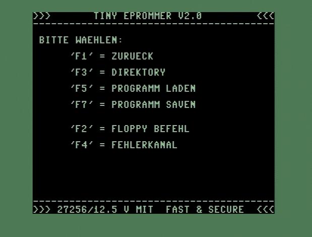 Nochmal F5, um C64R zu laden