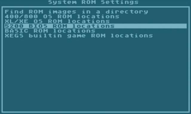 5200 BIOS ROM locations