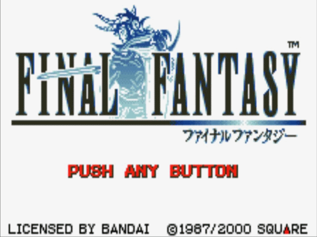 Das erste Final Fantasy auf dem WonderSwan Color.