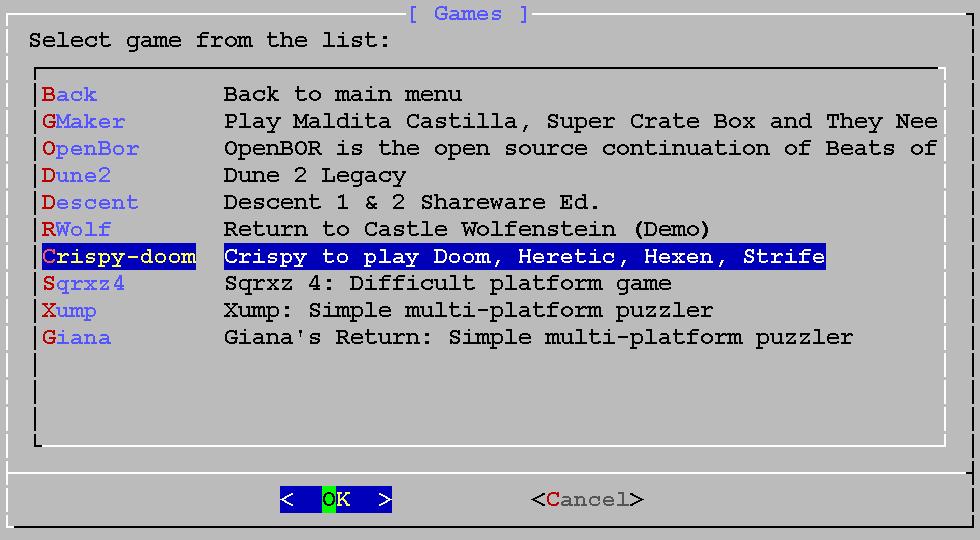 Crispy-doom Crispy to play Doom, Heretic, Hexen, Strife