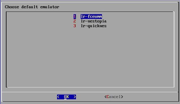 Die drei NES Emulatoren.