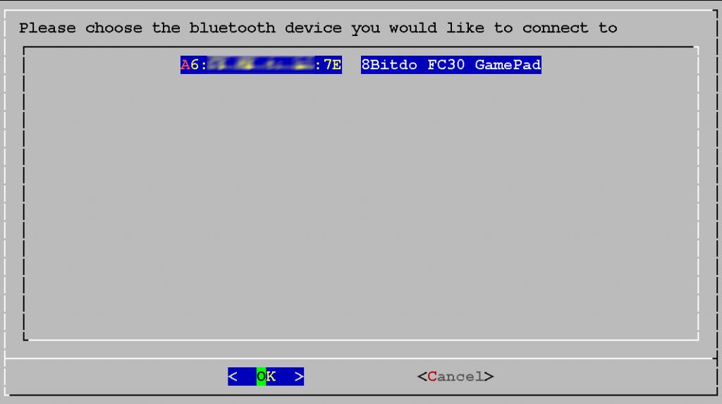 Verfügbares Bluetooth-Gerät (hier FC30) auswählen