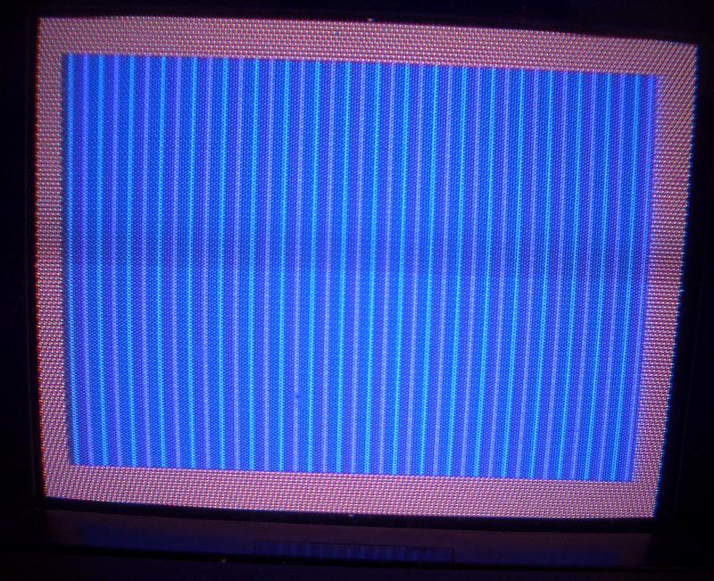 Ausgabe auf dem SX64 (Röhrenmonitor).