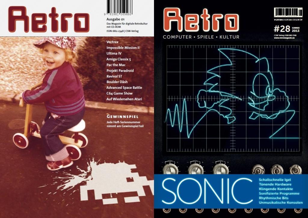 Die Cover der 1. und aktuellen 28. Ausgabe
