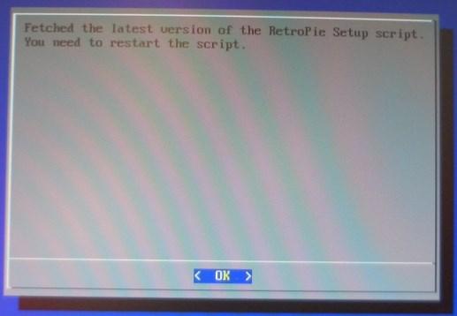 Nach dem Update, das Script neustarten.