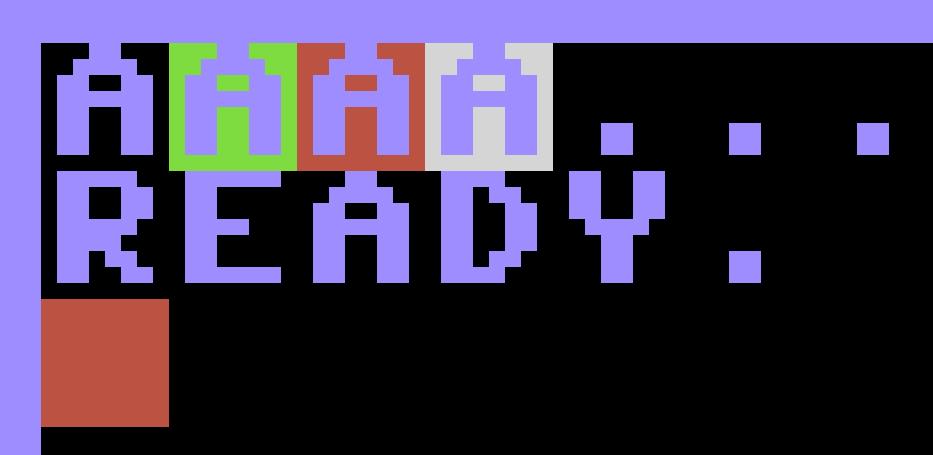 Vier unterschiedliche Hintergrundfarben für die 'A's