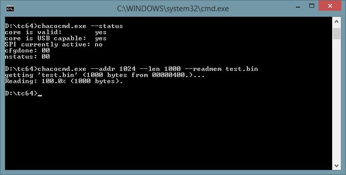 Den C64 Bildschirm in test.bin speichern.