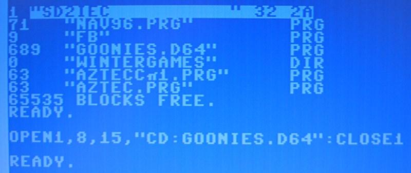 In ein D64-Image wechseln.