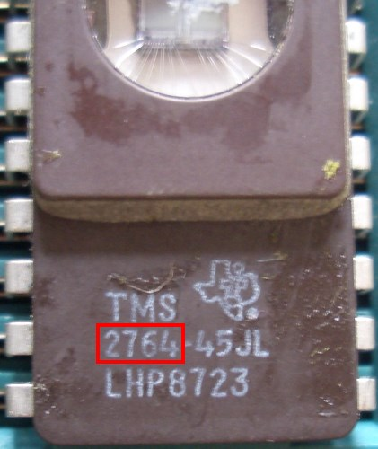 EPROM Typ (hier 2764)