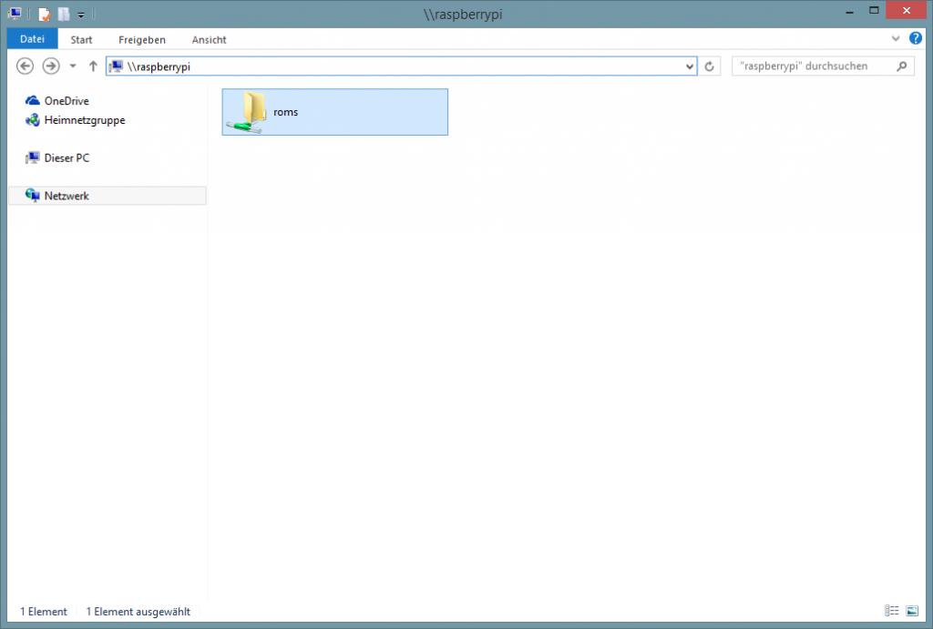 Ab dem RetroPie-Image 2.3 gibt es zunächst den ROM-Ordner