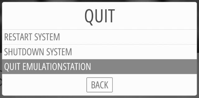 QUIT EMULATIONSTATION