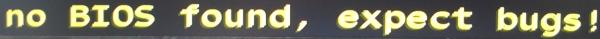 Der Emulator rät zu einem orignalem BIOS.