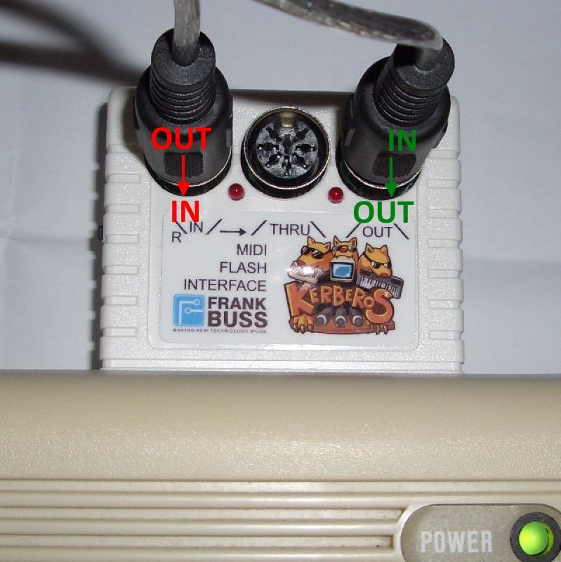 Kerberos am C64 mit MIDI-USB-Kabel