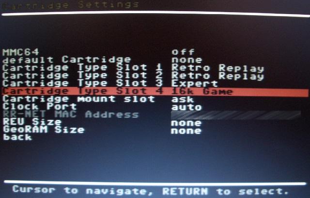 Der 'Cartridge Type' wurde automatisch auf '16kb Game' gesetzt.