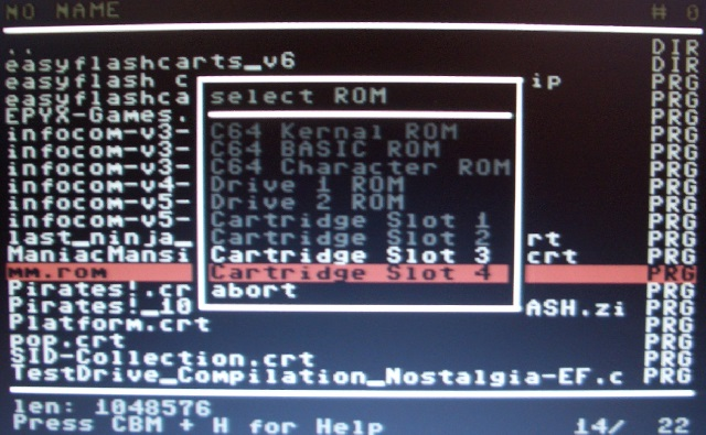 Da das Modul über 64KB hat, sind nur noch SLOT-3 & 4 möglich.