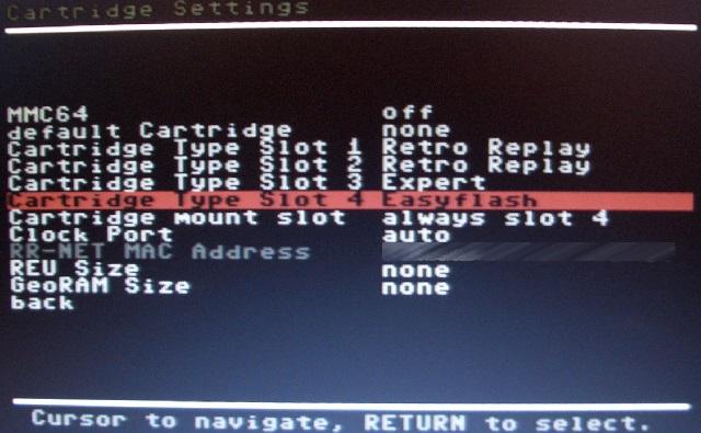 ...damit 'mein' Modul startet -> EasyFlash wählen.