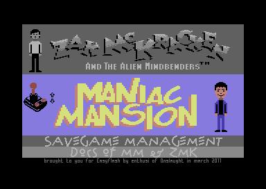 EasyFlash-Version von Maniac Mansion und Zak McKracken