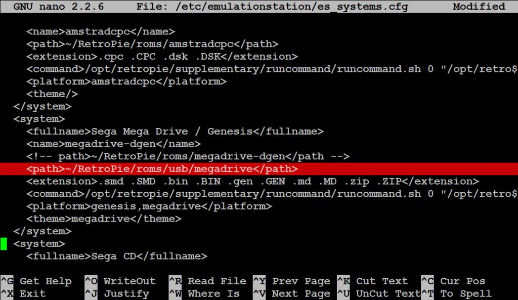 Jetzt noch die es_systems.cfg anpassen.
