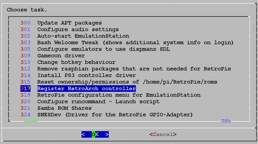 317 Register RetroArch controller