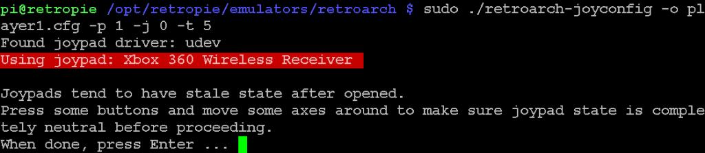 Der XBox-Controller wird abgefragt.