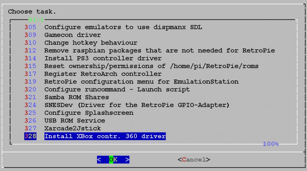 Den XBox-Treiber installieren.