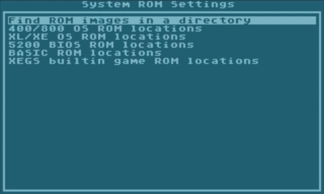 Über '' legen wir das Verzeichnis fest, in dem die ROMs liegen.