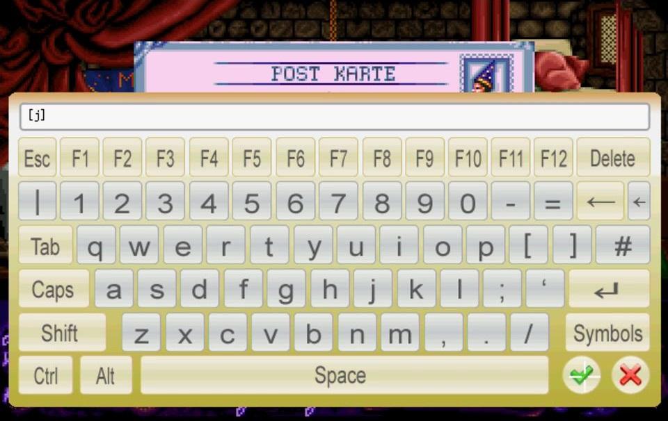 ... könnt ihr auch über die virtuelle Tastatur vornehmen.