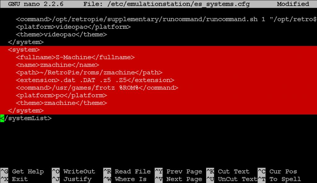 Eintrag in der es_systems.cfg