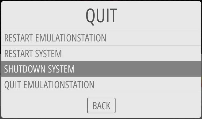 SHUTDOWN SYSTEM