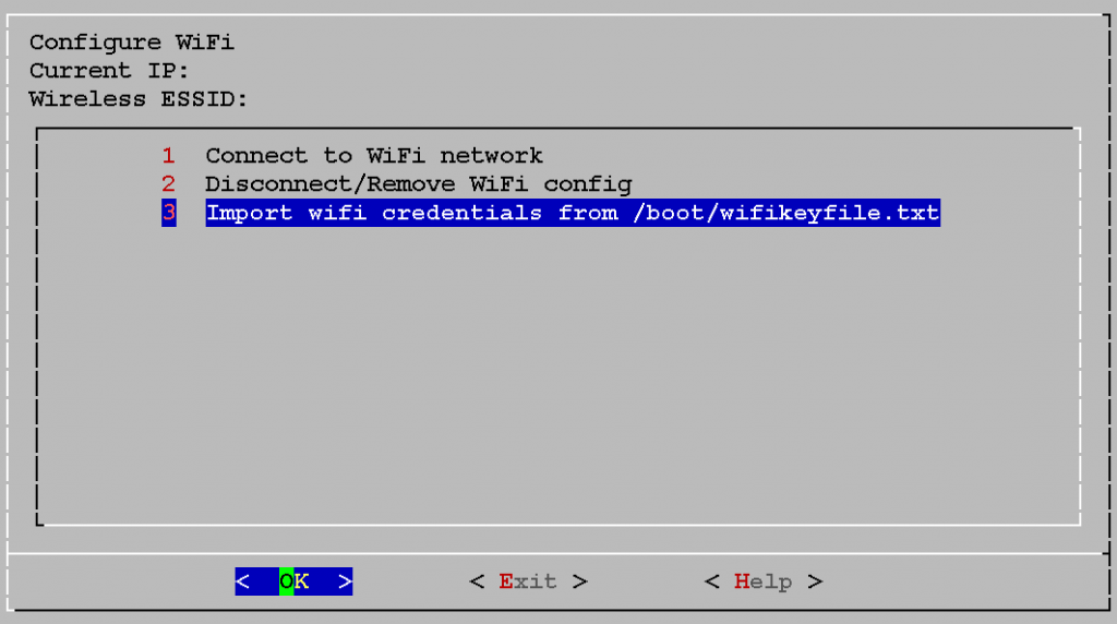 3 Import wifi credentials from /boot/wifikeyfile.txt
