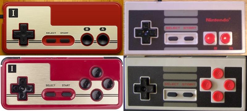 Vergleich der original Pads (oben) mit den neuen (unten)